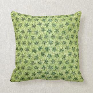ヴィンテージの緑のバイオレットの枕 クッション