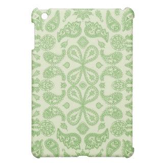 ヴィンテージの緑のペイズリー iPad MINI カバー
