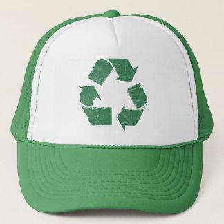 ヴィンテージの緑のリサイクルの印 キャップ