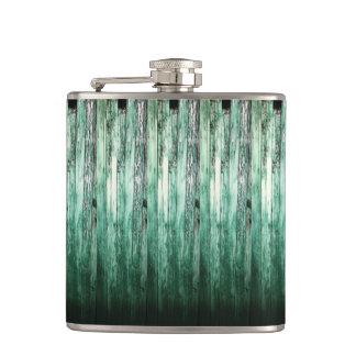 ヴィンテージの緑の納屋の素朴な板HFPHOT04 フラスク