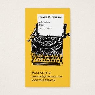 ヴィンテージの編集者のレトロのカッコいいのタイプライター 名刺