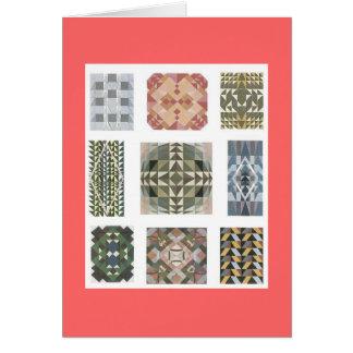 ヴィンテージの織物のノート カード