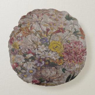 """ヴィンテージの織物の円形の装飾用クッション(16"""") ラウンドクッション"""