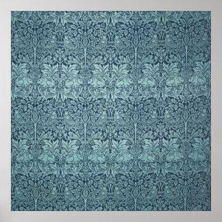 ヴィンテージの織物パターンBrerのウサギウィリアム・モリス ポスター