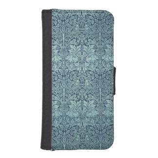 ヴィンテージの織物パターンBrerのウサギウィリアム・モリス iPhoneSE/5/5sウォレットケース