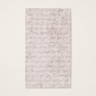 ヴィンテージの羊皮紙の旧式な文字のテンプレートのブランク 名刺