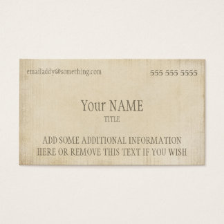ヴィンテージの羊皮紙 名刺