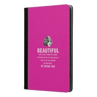 ヴィンテージの美しい絶対必要の開始のピンク iPad AIRケース