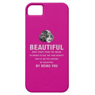ヴィンテージの美しい絶対必要の開始のピンク iPhone SE/5/5s ケース