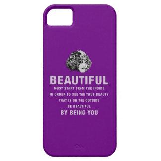 ヴィンテージの美しい絶対必要の開始の紫色 iPhone SE/5/5s ケース