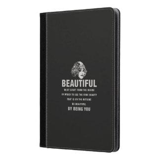 ヴィンテージの美しい絶対必要の開始の黒 iPad AIRケース