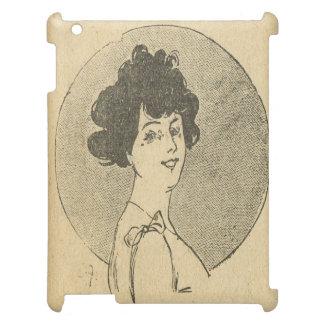 ヴィンテージの美女の新紀元、フラッパーのファッション iPad カバー