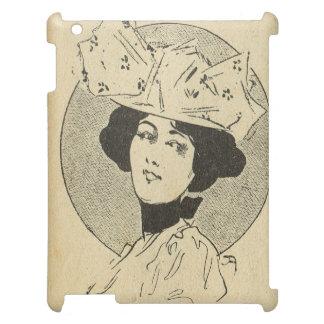 ヴィンテージの美女の新紀元、大きい帽子を持つ女性 iPad CASE