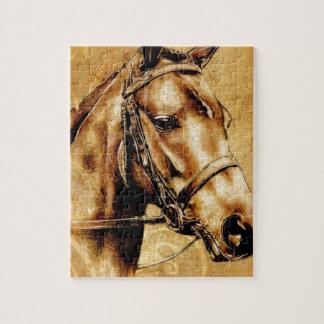ヴィンテージの美術F049の馬 ジグソーパズル