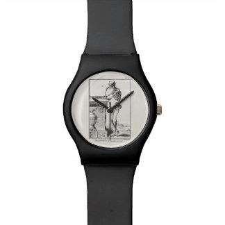 ヴィンテージの考えるな人間の骨組医学の解剖学 腕時計