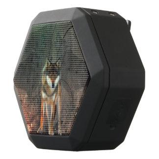 ヴィンテージの背景の素晴らしいオオカミ ブラックBluetoothスピーカー