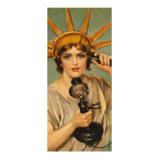ヴィンテージの自由の女神、WWI愛国心が強い戦争の広告 ラックカード
