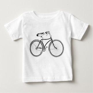 ヴィンテージの自転車のベビーのティーのアンティークかレトロまたはサイクリング ベビーTシャツ