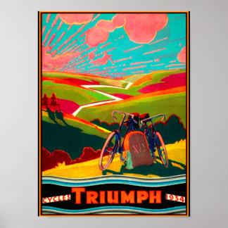 ヴィンテージの自転車の広告-山腹のバイク ポスター