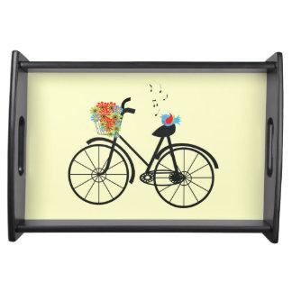 ヴィンテージの自転車の歌う鳥 トレー