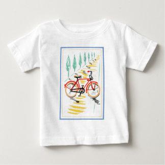 ヴィンテージの自転車の芸術 ベビーTシャツ