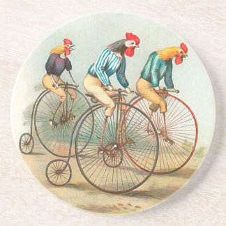 Vintage Bicycle Chickens
