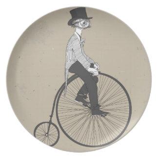 ヴィンテージの自転車を自信をもって進めて下さい プレート