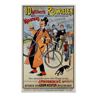 ヴィンテージの自転車ポスター:  Whitworth Rijwielen ポスター