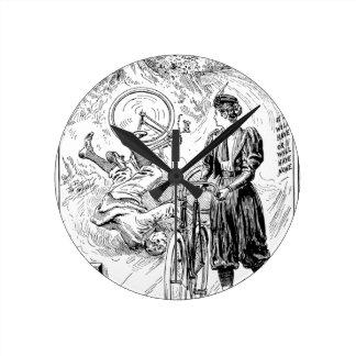 ヴィンテージの自転車広告時計 ラウンド壁時計