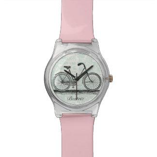 ヴィンテージの自転車辞書のページの名前入りな名前 腕時計