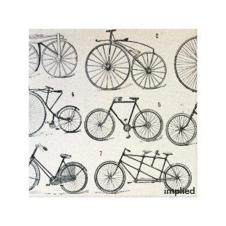 ヴィンテージの自転車 キャンバスプリント