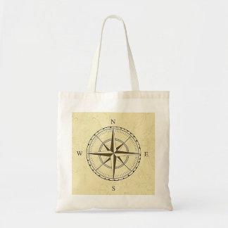 ヴィンテージの航海のなコンパスのアイボリー トートバッグ