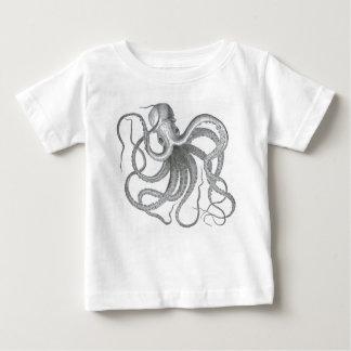 ヴィンテージの航海のなsteampunkのタコのプリント ベビーTシャツ