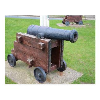 ヴィンテージの船の大砲 ポストカード