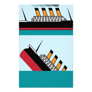 ヴィンテージの船 便箋