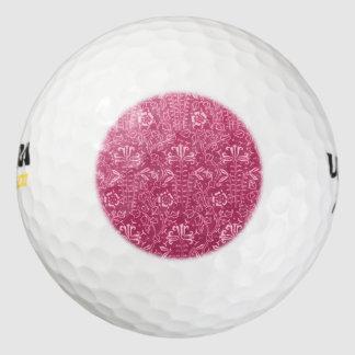 ヴィンテージの花のいちごのピンク ゴルフボール