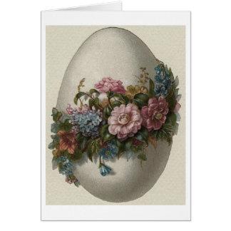 ヴィンテージの花のイースターエッグ! ヴィンテージのイースターカード カード
