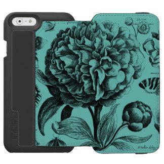 ヴィンテージの花のエッチング INCIPIO WATSON™ iPhone 6 ウォレットケース