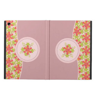 ヴィンテージの花のオレンジiPadの箱