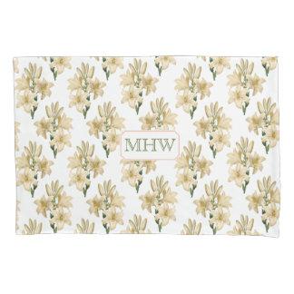 ヴィンテージの花のカスタムなモノグラムの枕箱1 枕カバー