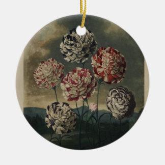 ヴィンテージの花のカーネーションの絵画 セラミックオーナメント