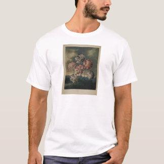 ヴィンテージの花のカーネーションの絵画 Tシャツ
