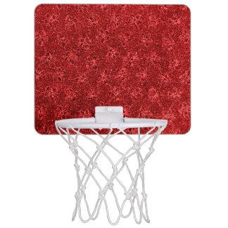 ヴィンテージの花のクランベリーの赤いバイオレットの花 ミニバスケットボールゴール