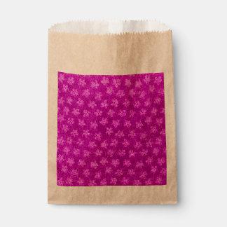 ヴィンテージの花のスイカのピンク フェイバーバッグ