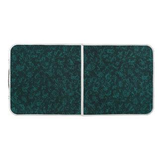ヴィンテージの花のターコイズのティール(緑がかった色) ビアポンテーブル