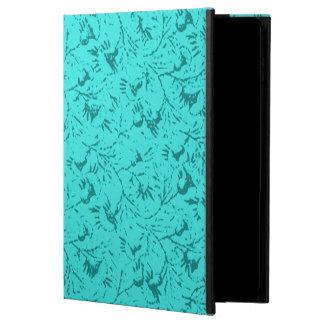 ヴィンテージの花のティール(緑がかった色)の孔雀 POWIS iPad AIR 2 ケース