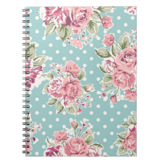 ヴィンテージの花のノート ノートブック