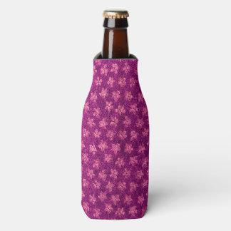 ヴィンテージの花のマゼンタのピンク ボトルクーラー
