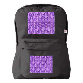 ヴィンテージの花のラベンダーの蘭の紫色 AMERICAN APPAREL™バックパック