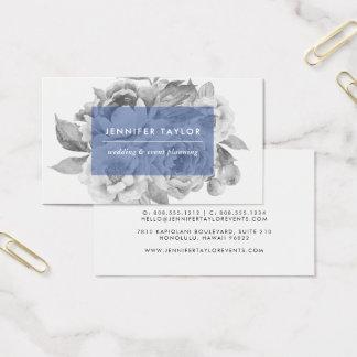 ヴィンテージの花の名刺|海軍 名刺